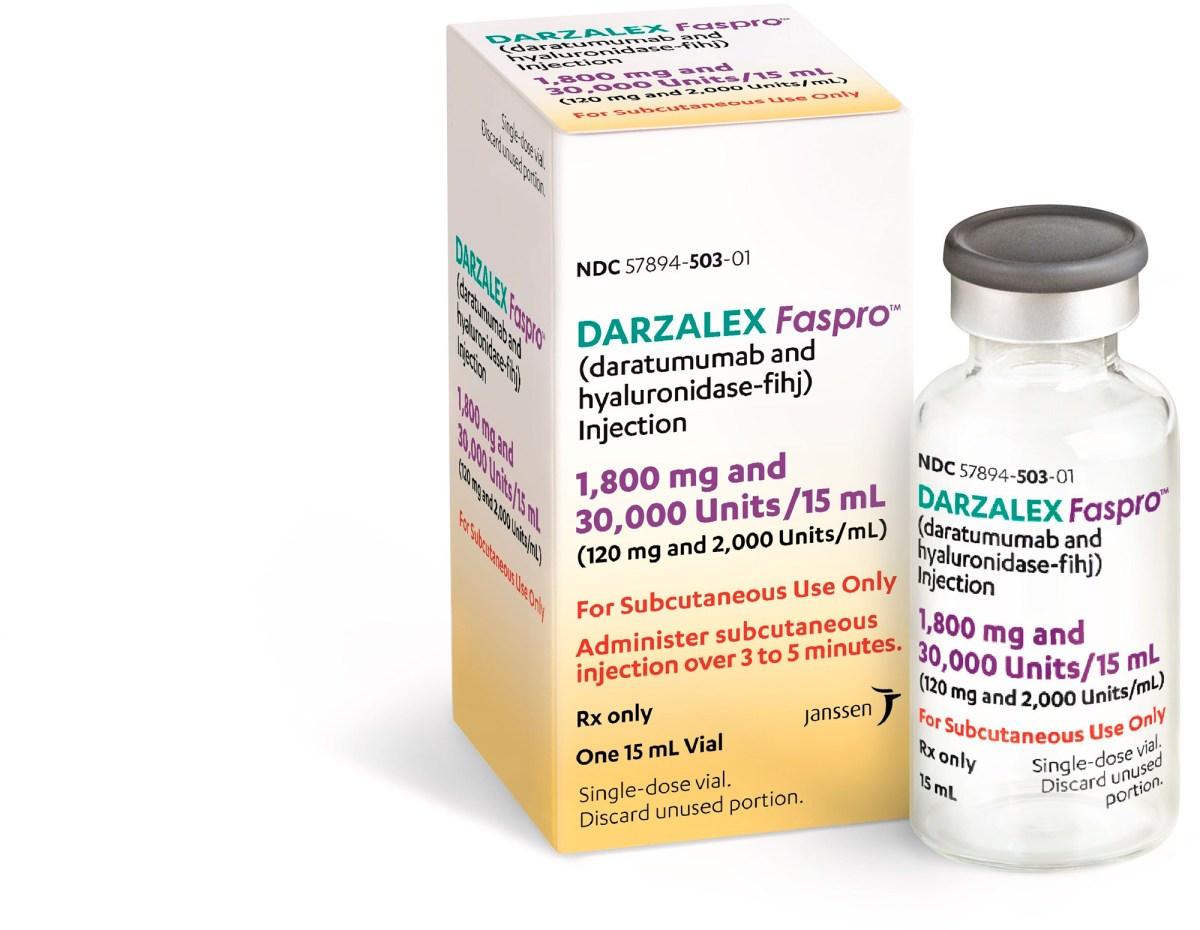 «Дарзалекс Фаспро» (Darzalex Faspro, даратумумаб + гиалуронидаза).