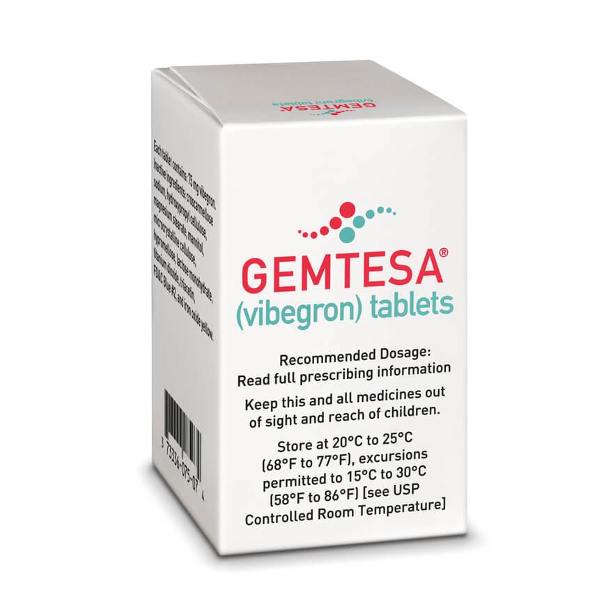«Гемтеса» (Gemtesa, вибегрон).
