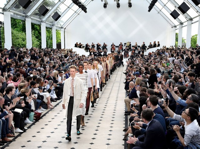 The Burberry Spring Summer 2016 Menswear Show Mosnar Communications Luxury PR Perfect Pitch