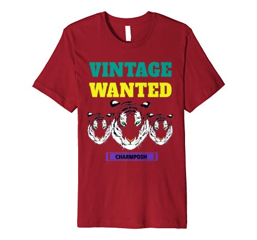 Vintage Wanted Designer T-Shirt Brand Logo CharmPosh Mosnar Communications