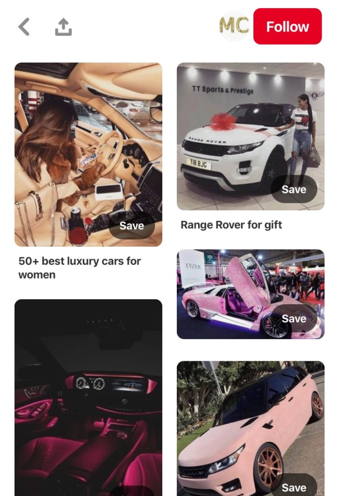 Luxury-Cars-For-Women-Pinterest-MC-Mosnar-Communications-