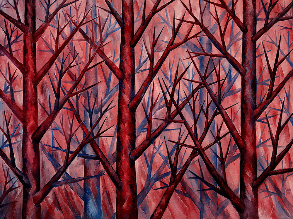 """""""Harmony in Pink"""" in Symbiosis Collection. Original Oil on Canvas 72"""" x 96"""""""