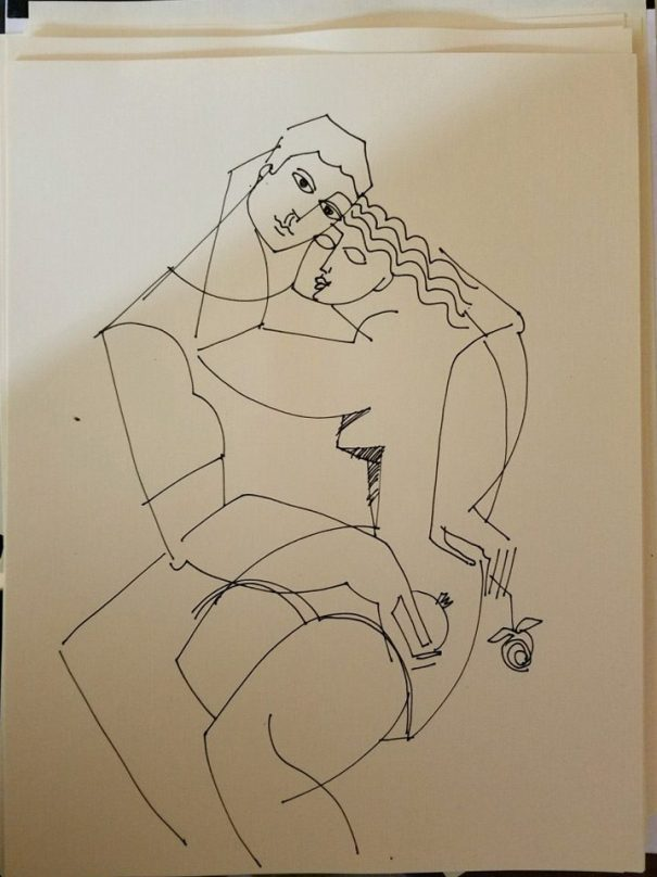 sketch of Lovers' Embrace by Yuroz