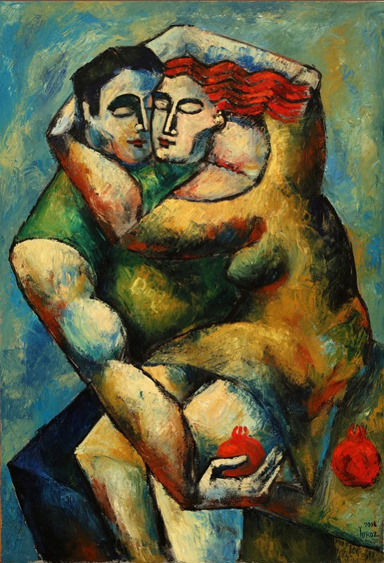 Lovers Embrace by Yuroz in the Romantic Summer Impasto Collection