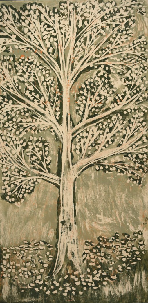 Oak Tree Series: Composition 07 (green) by Yuroz