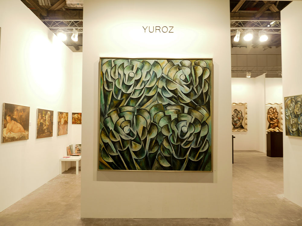 Yuroz and Moso Art Gallery booth at Art Stage Singapore 2017 - Pulses Collection by Yuroz