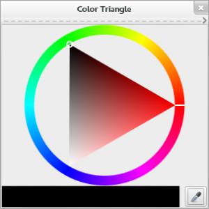 Selección de color en MyPaint