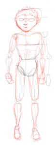 Esqueleto con músculos