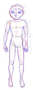 Esqueleto con músculos y piel
