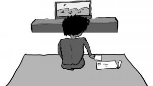 Storyboard: Mo en su cuarto