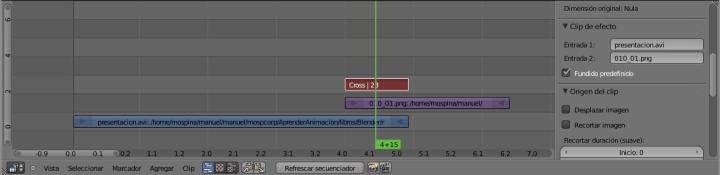 Ventana del editor de secuencias