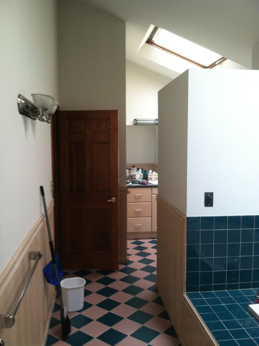 before bathroom tiling