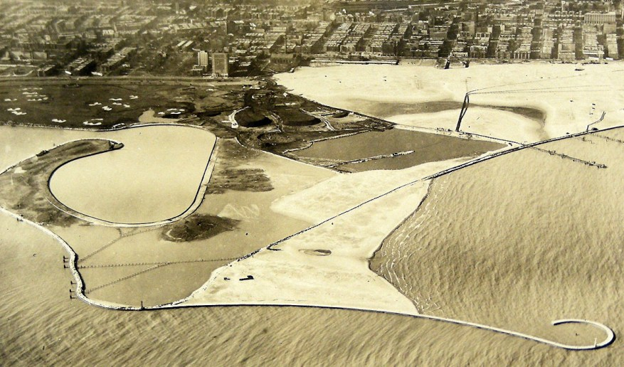 montrose beach 1932 construction