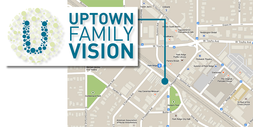 uptown family vision, park ridge location map