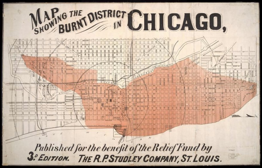great chicago fire burnt district