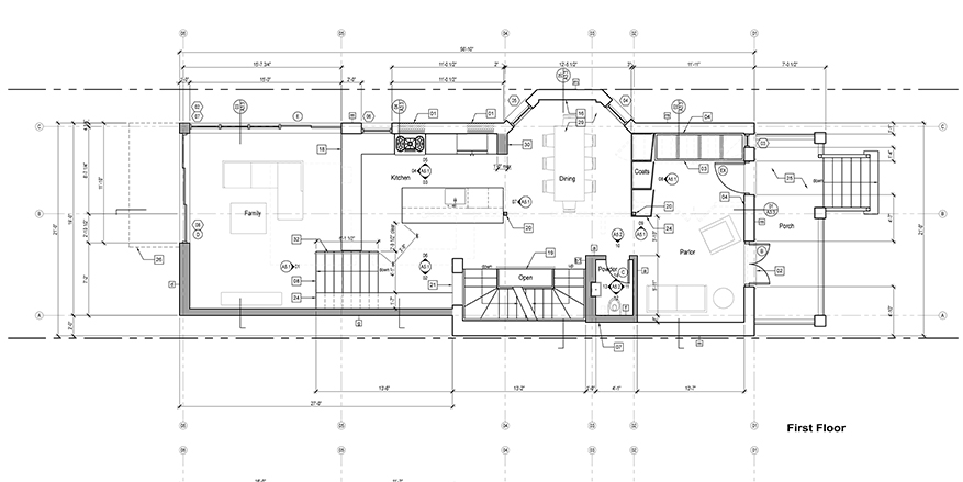 floor plan construction documents