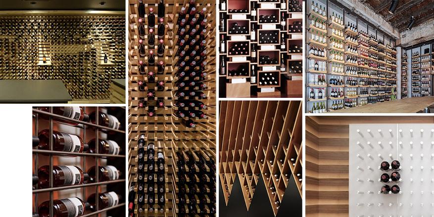 pinterest collage - wine rack