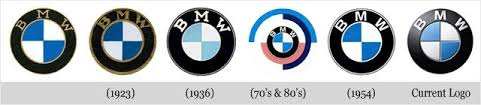 BMW logos difference through years