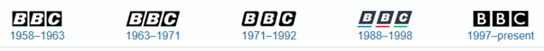 BBC logo collection to remember  brand