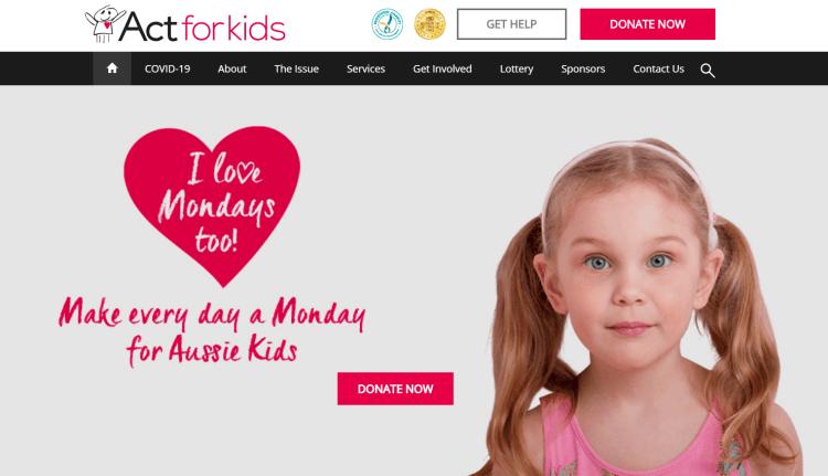 actforkids.com homepage