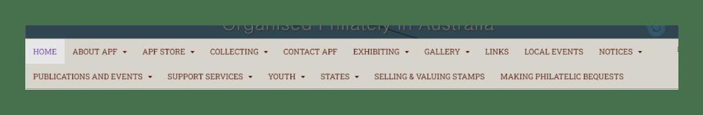 APF menu reduced