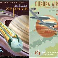 Retro Space Tourism Posters