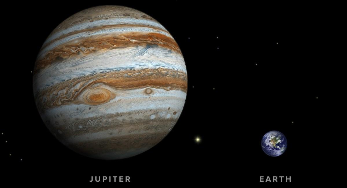 Jupiter vs Earth Size Comparison