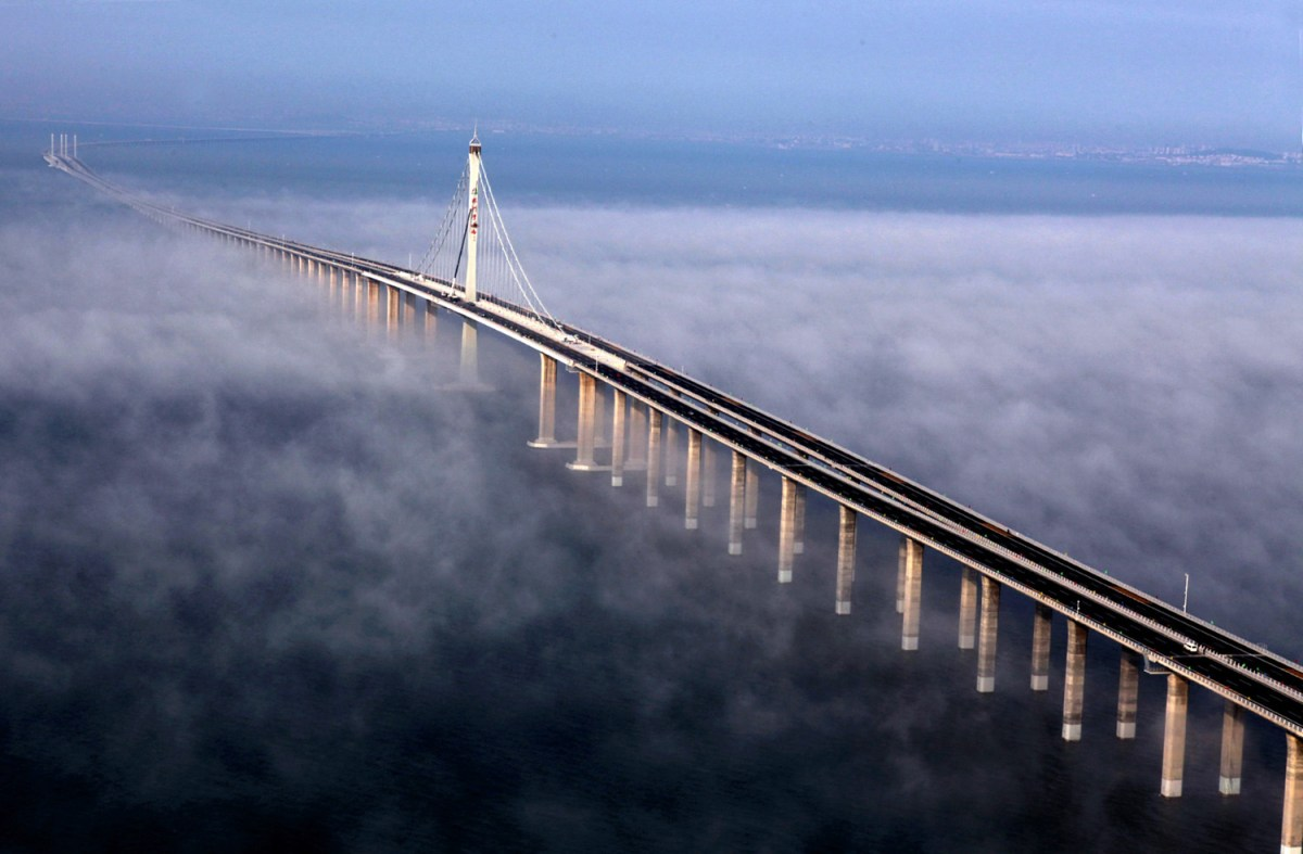 China opens worlds longest sea bridge