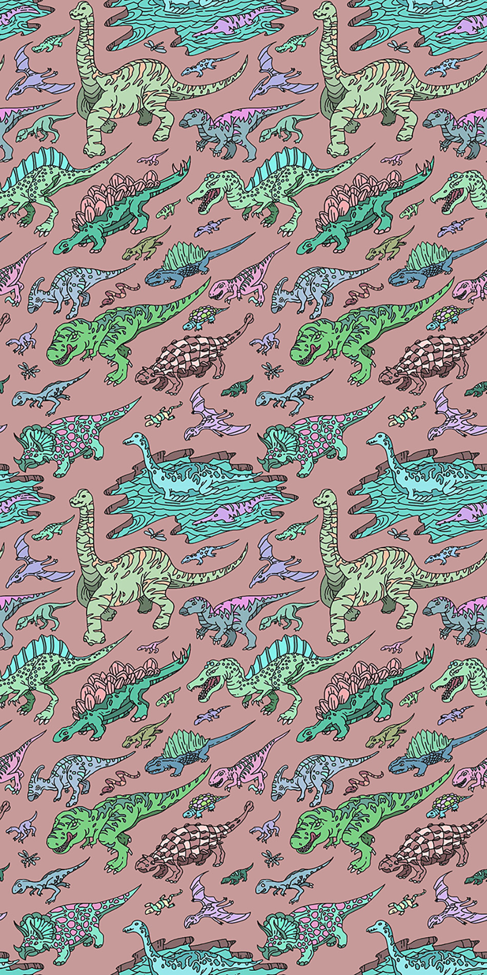 dinosaur coloring wallpaper