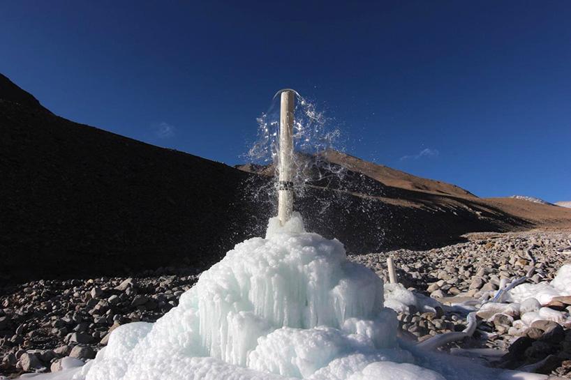 ice stupa 2 moss and fog