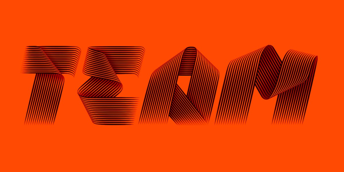 Adidas swooping typeface