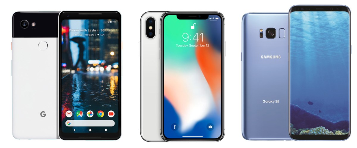Design Verdict: iPhone X Vs. Google Pixel 2 Vs. Samsung Galaxy S8