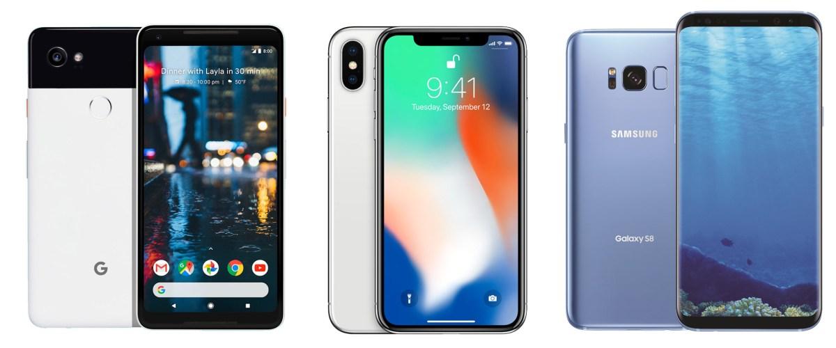 Pixel 2 Vs iPhone X Vs Galaxy S8