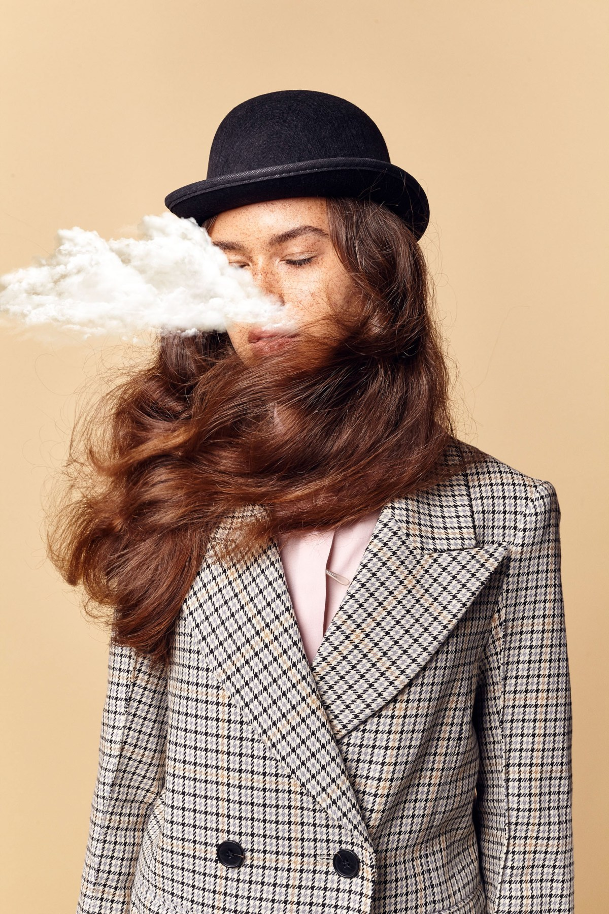 Magritte inspired fashion shoot