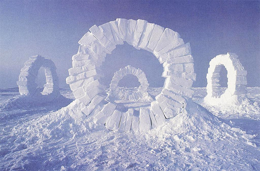 Andy Goldsworthy winter art