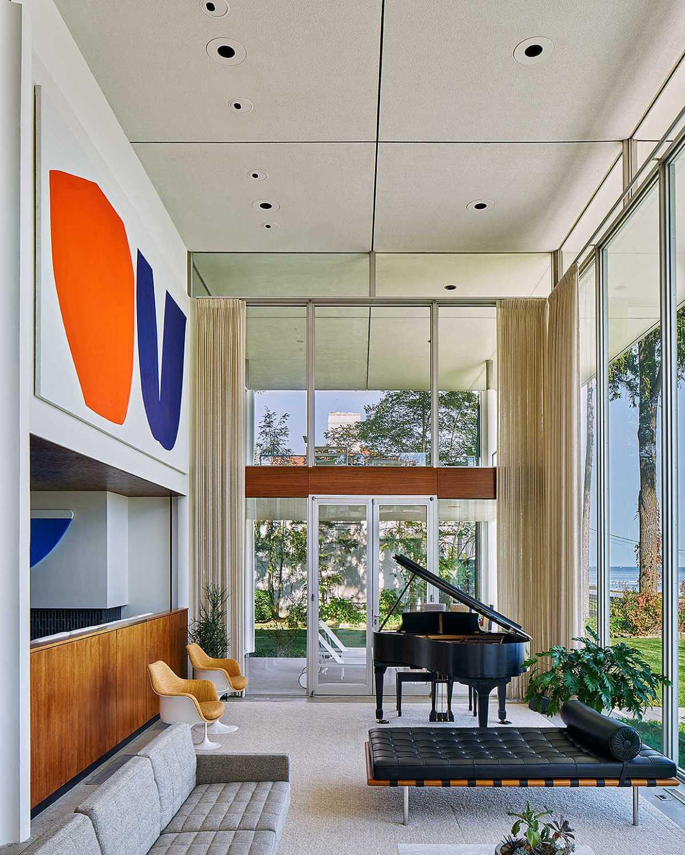 Hawkins Ferry piano room