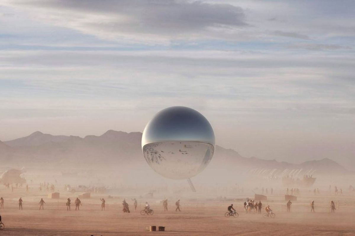 Bjarke Ingels' Giant Silver Orb Destined for Burning Man