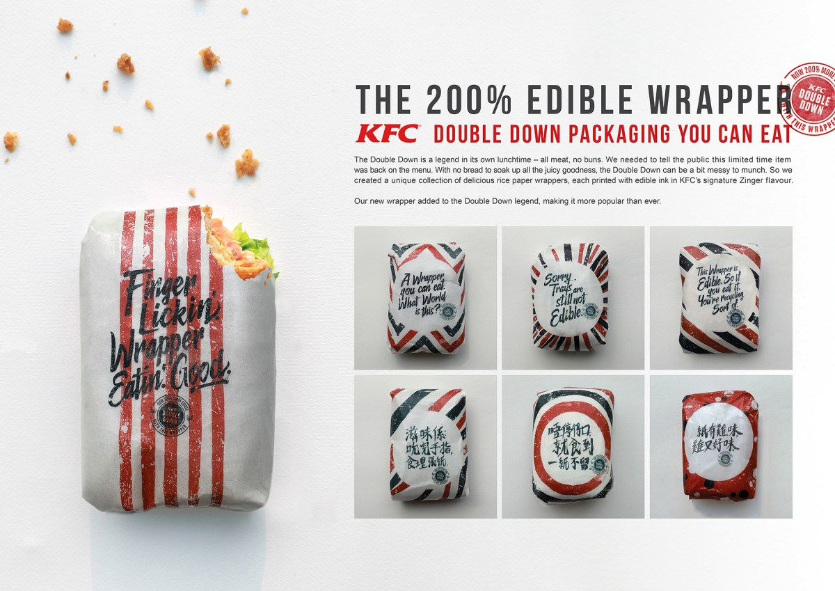 KFC's Edible Wrappers