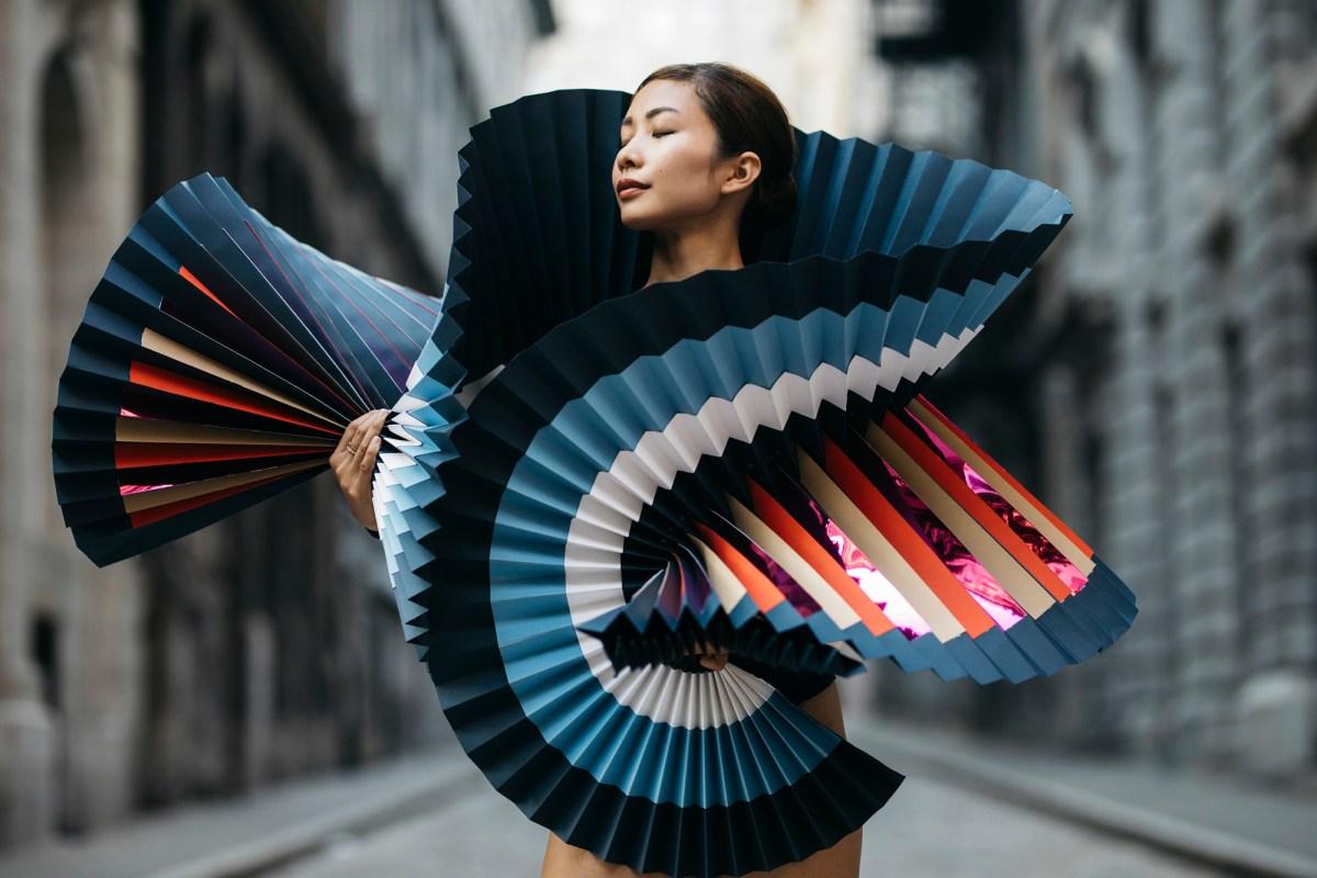 Dramatic Origami Dresses