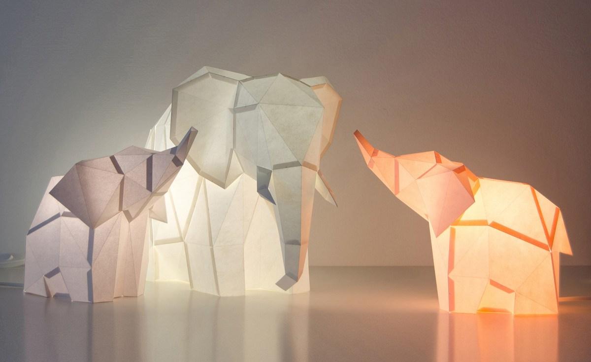Elephant-Family-DIY-Paperlamps