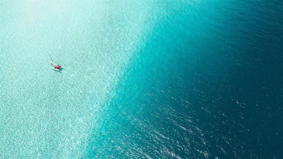 Maldives water from above