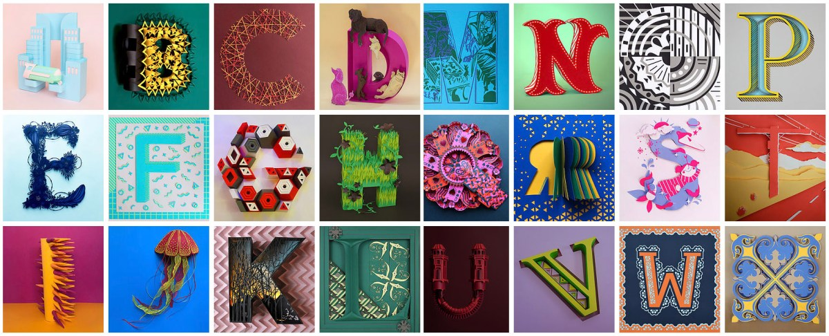 Paper Artists Collective Alphabet Challenge