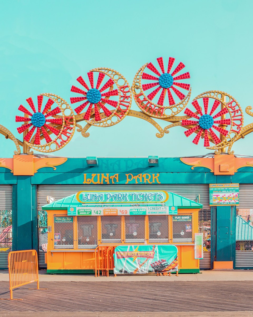 Coney Island Captured in Surreal Simplicity