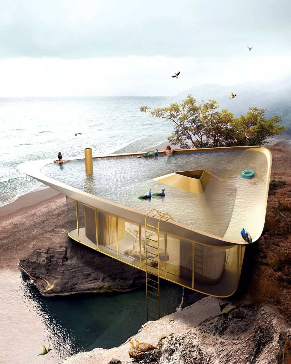 Summerhouse Concept Has Rooftop Pool Design
