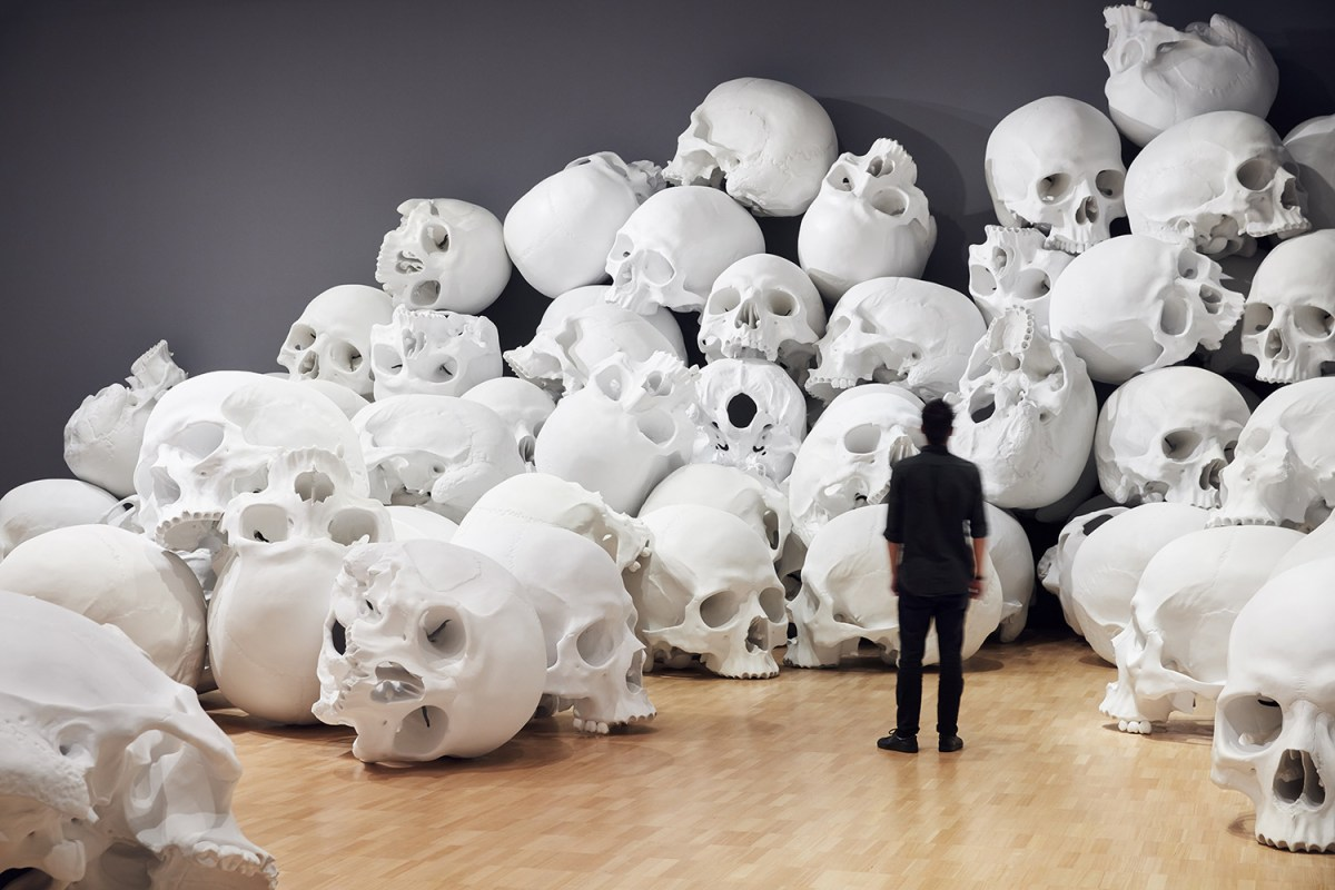 100 Enormous Human Skulls Fill An Art Gallery