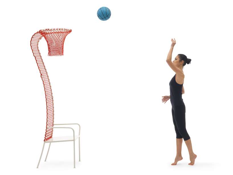 Lazy Basketball Chair by Emanuele Magini