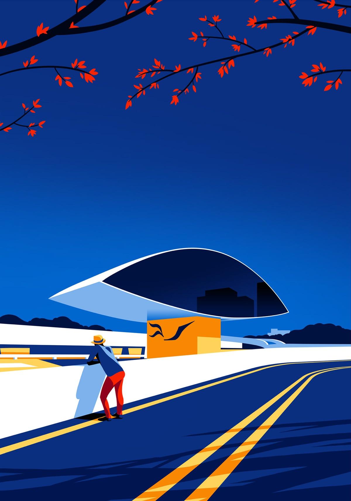 oscar-niemeyer-architecture-illustrations-levente-szabo-3