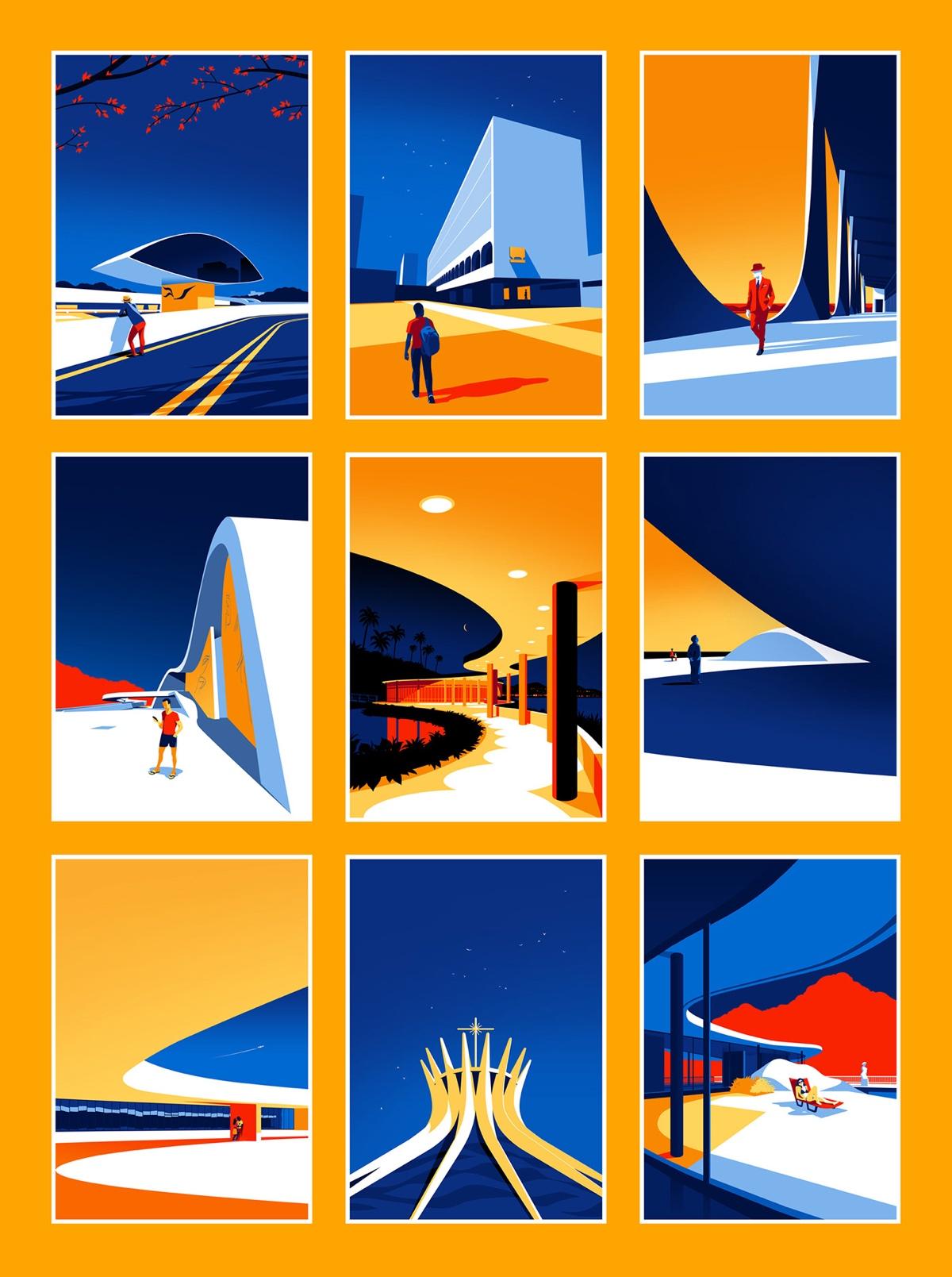 oscar-niemeyer-architecture-illustrations-levente-szabo-8