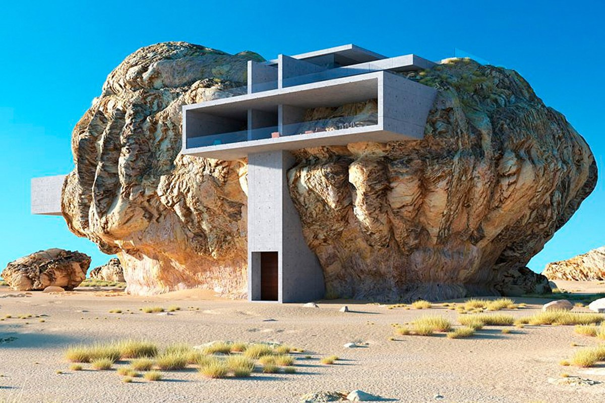 House Inside a Rock