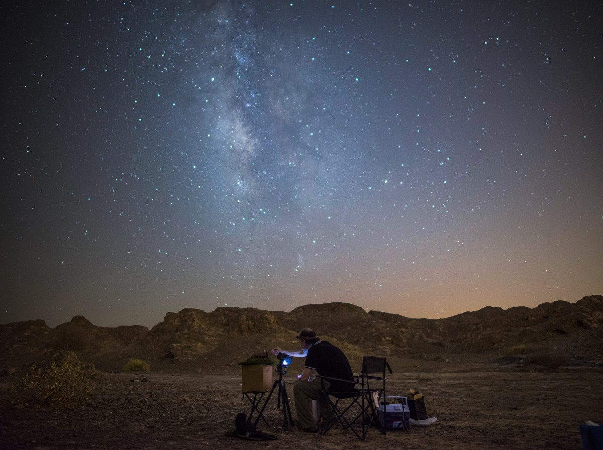 miniatures photographed under stars